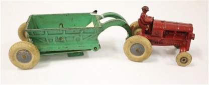 MODEL ARCADE FORDSON ALLIS CHALMERS TRACTOR WITH WAGON