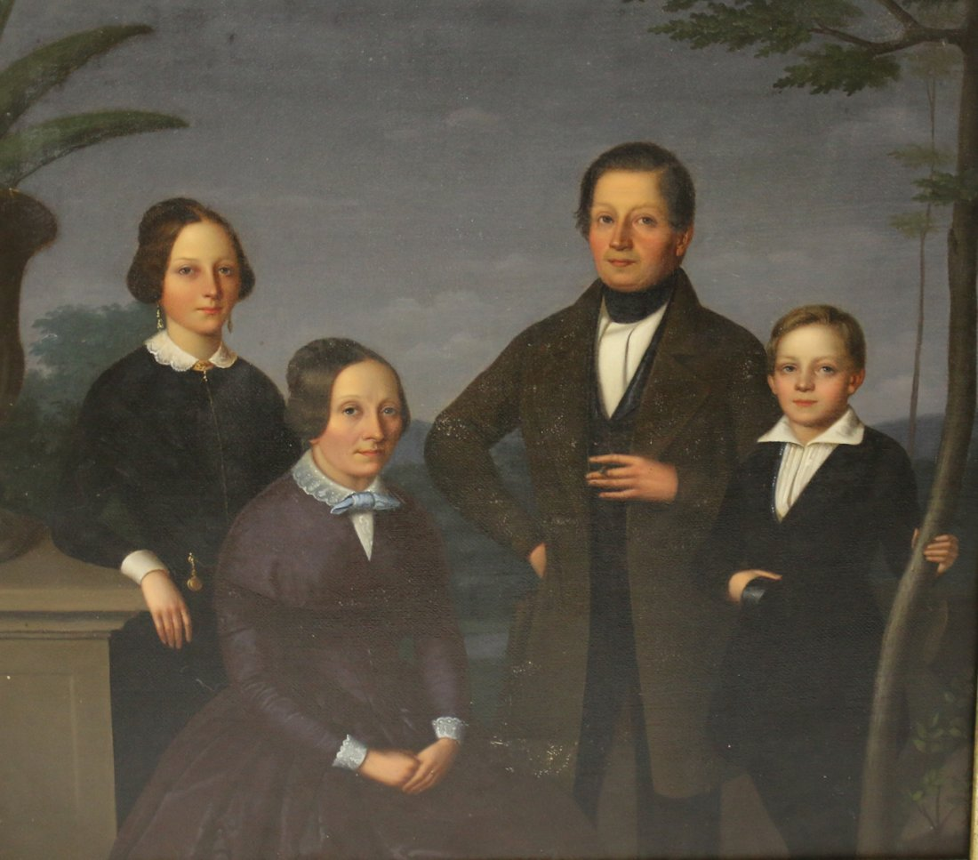 PORTRAIT OF VIRGINIA TOBACCO FARM FAMILY