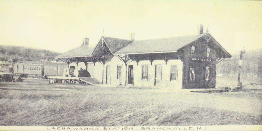 FRAMED PHOTO OF BRANCHVILLE TRAIN STATION