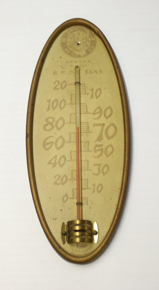 NEWTON, NEW JERSEY ELKS CLUB THERMOMETER