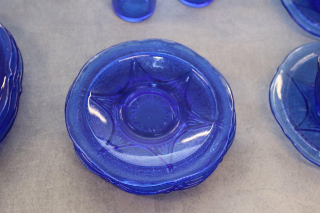 24 PC OF ROYAL LACE COBALT BLUE DEPRESSION GLASS LOT - 2