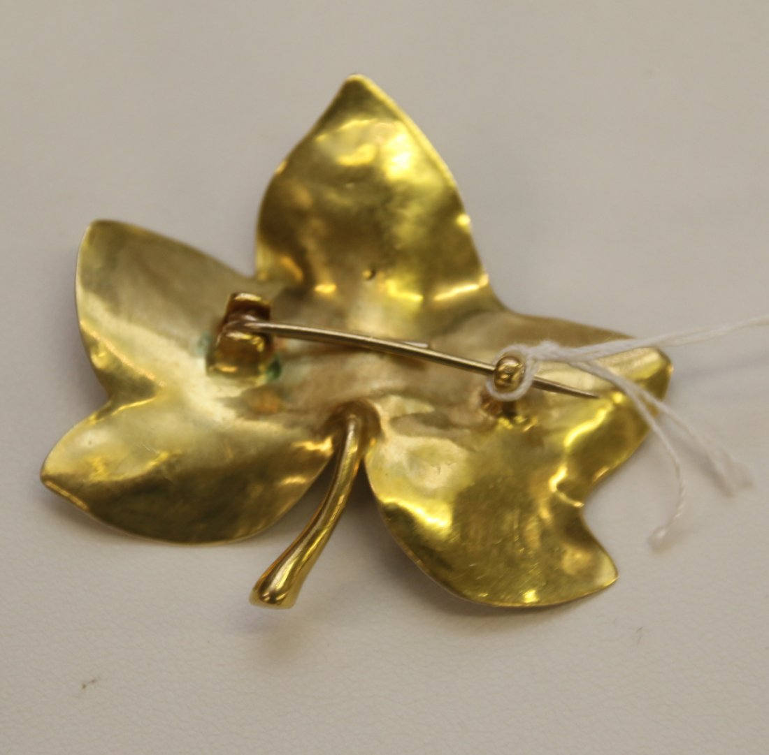 18K YELLOW GOLD PIN - 2