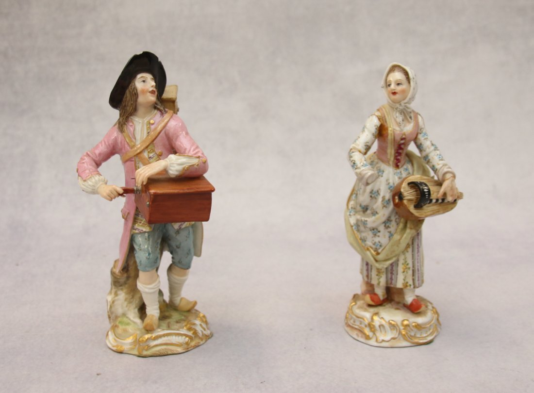 MEISSEN PAIR OF MUSICIANS