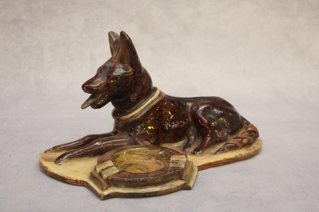REDWARE DOG ASHTRAY