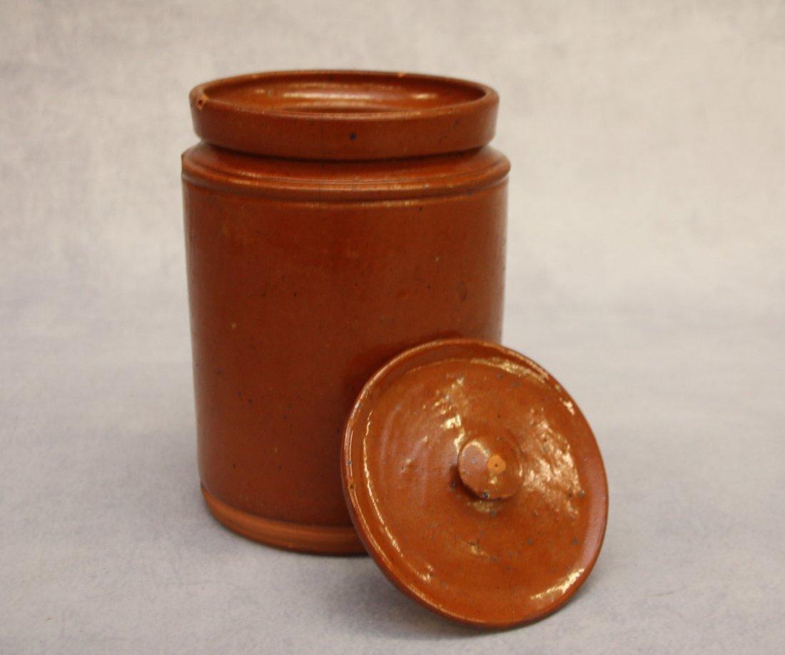 REDWARE STORAGE JAR WITH LID - 2
