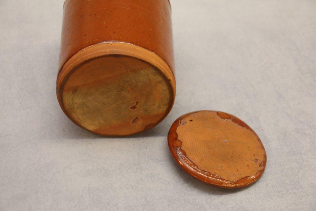 REDWARE STORAGE JAR WITH LID - 4