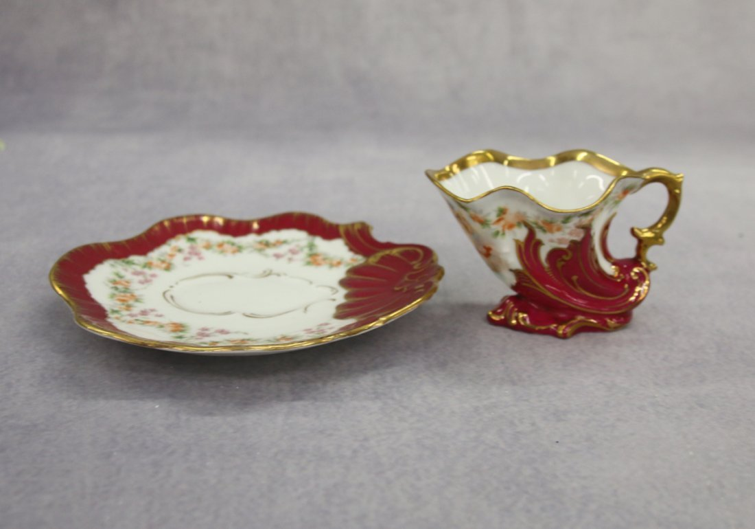 SET OF 6 DEMITASSE CUP AND SAUCERS - 2