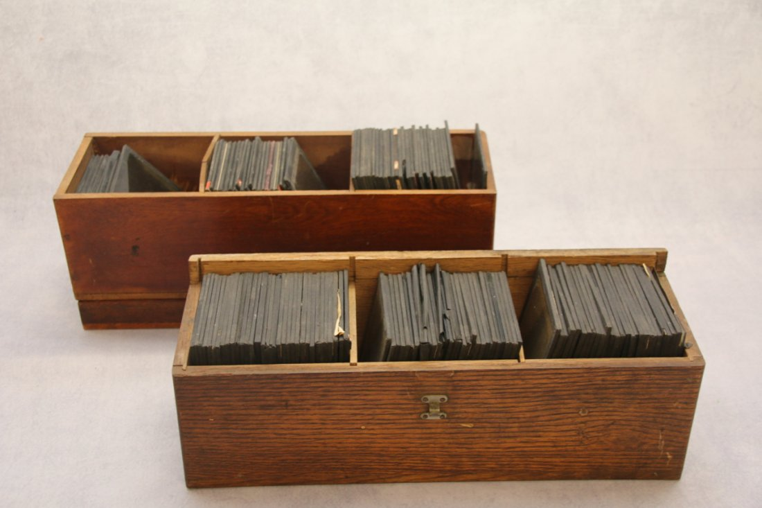 (2) BOXES OF GLASS SLIDES