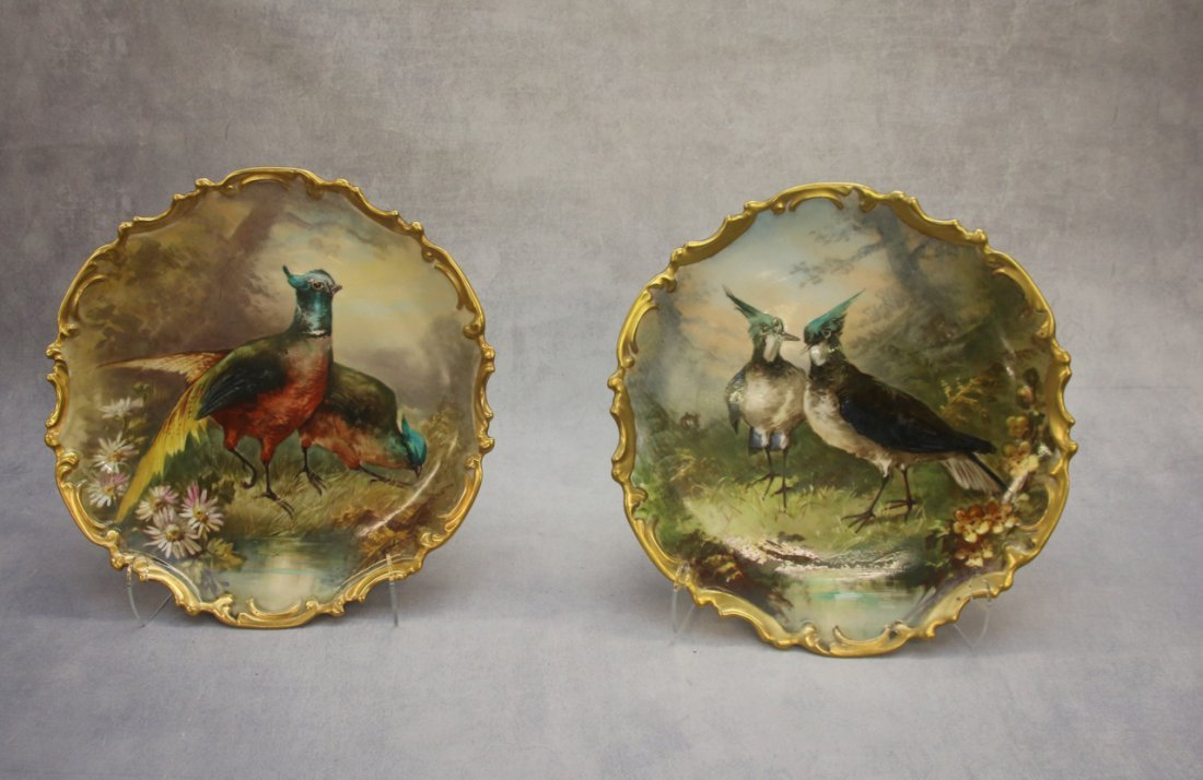 PR. HAND PAINTED LIMOGES FRANCE PLATES