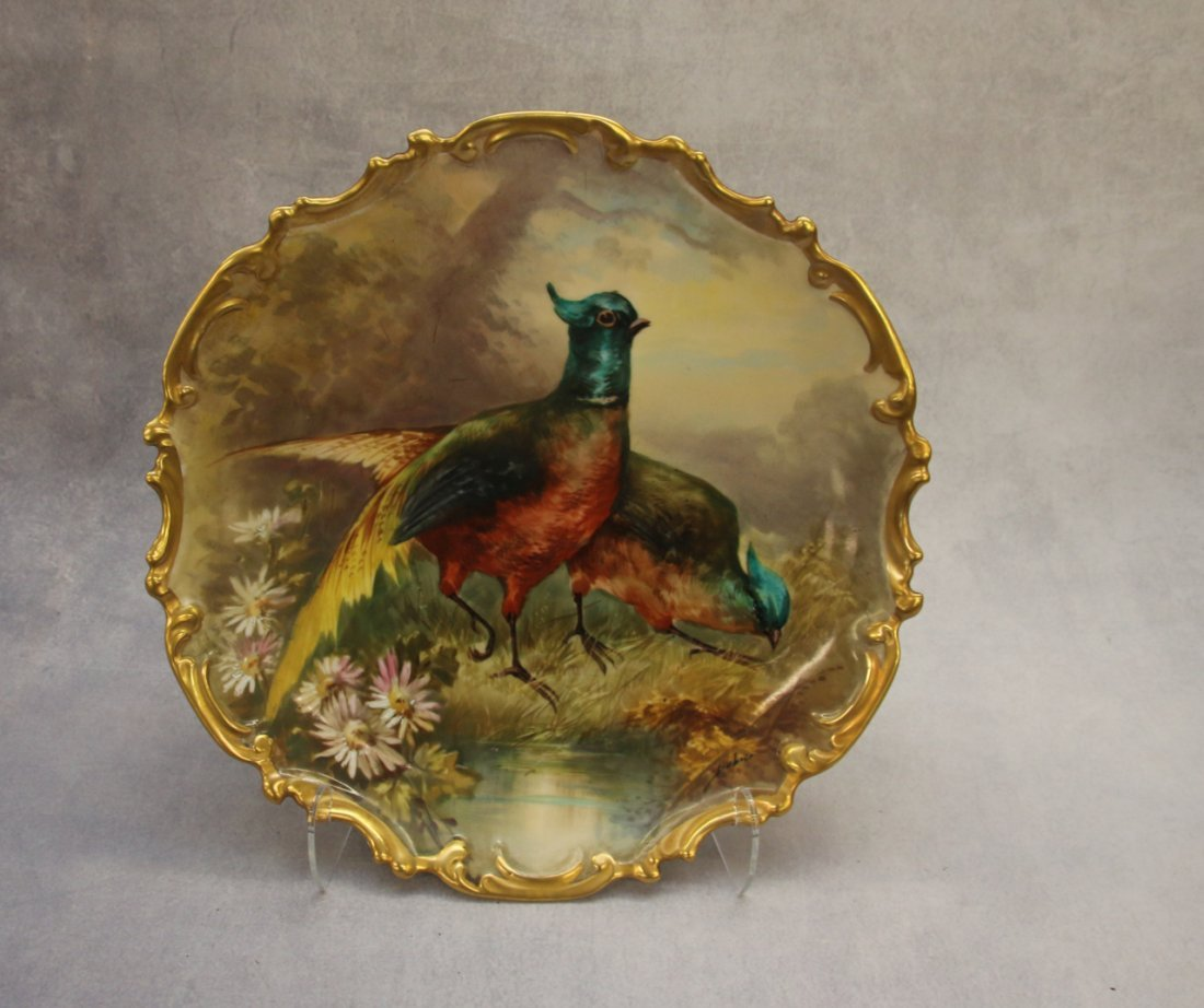 PR. HAND PAINTED LIMOGES FRANCE PLATES - 2