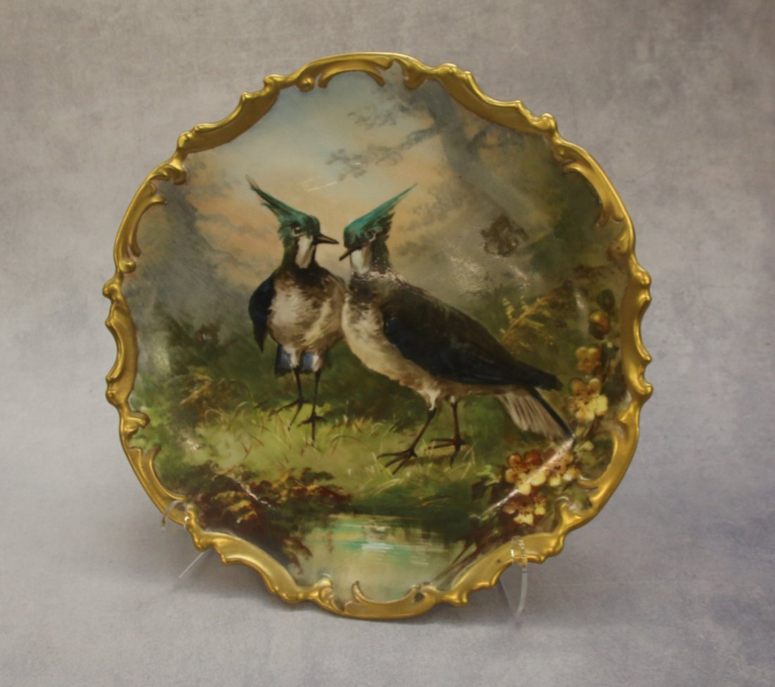 PR. HAND PAINTED LIMOGES FRANCE PLATES - 3