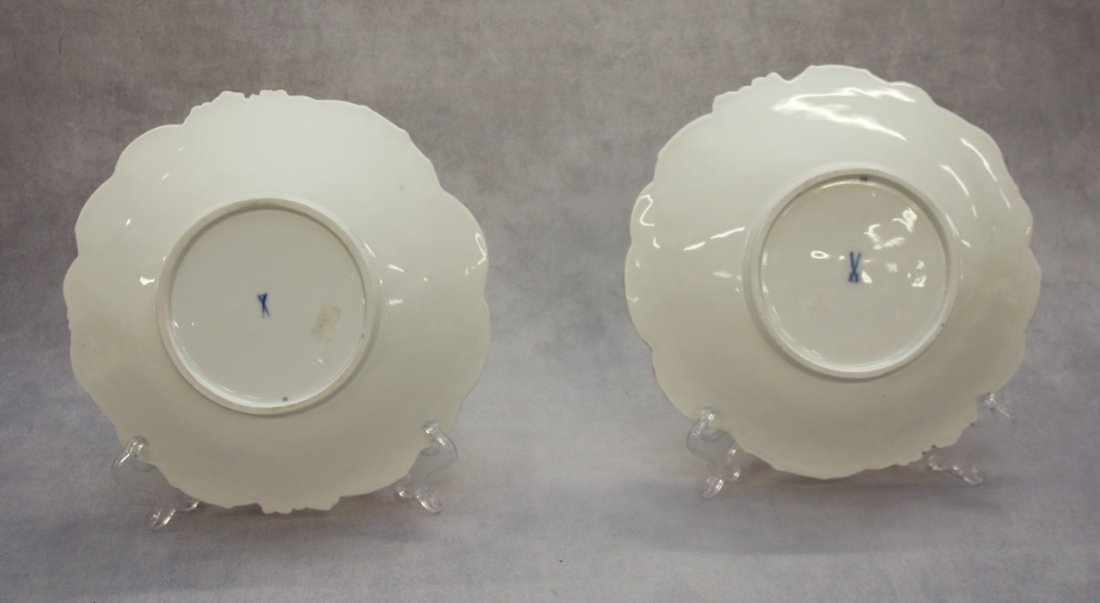 PR. MEISSEN PORCELAIN NEW GOLD SERVING BOWLS - 2