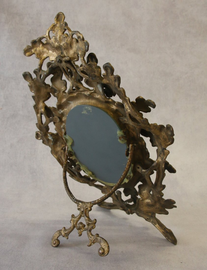 ANTIQUE BRASS MIRROR - 2
