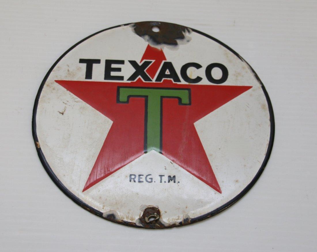 ENAMELED TEXACO ADV. SIGN