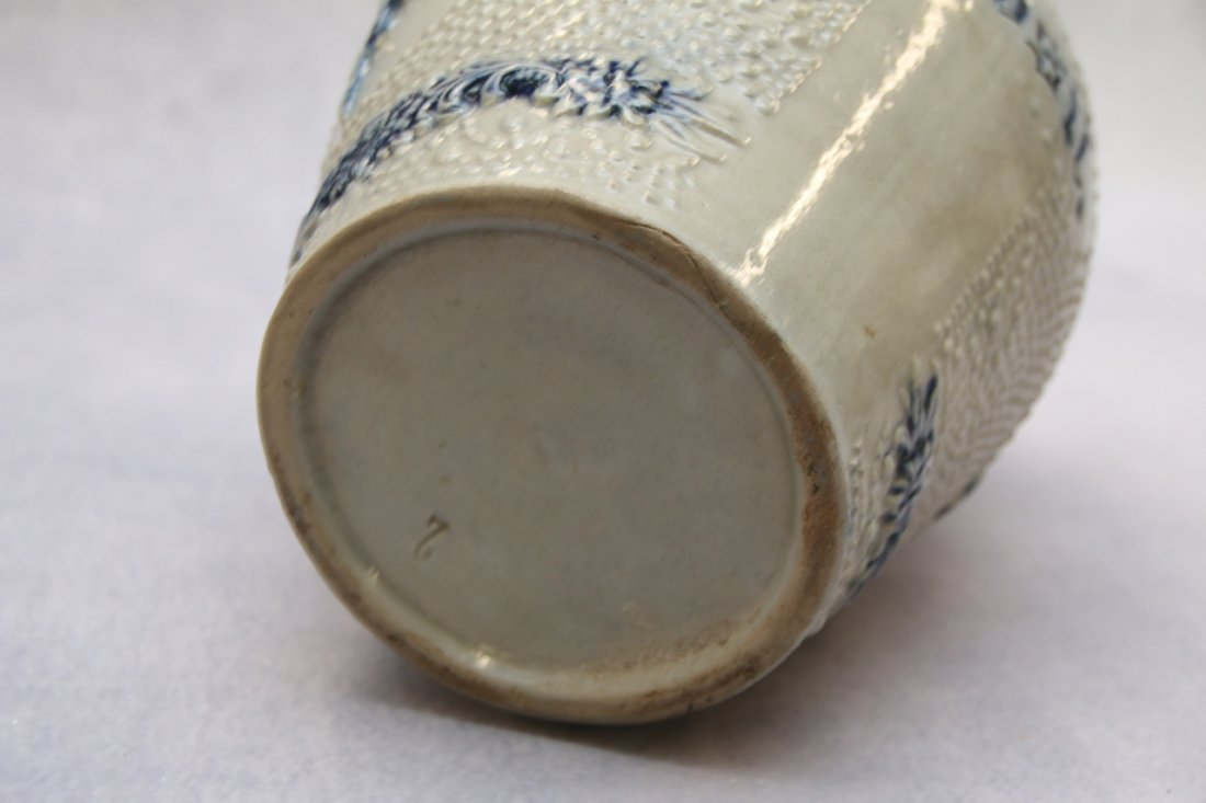 BLUE DECORATED SALT GLAZED PITCHER - 3