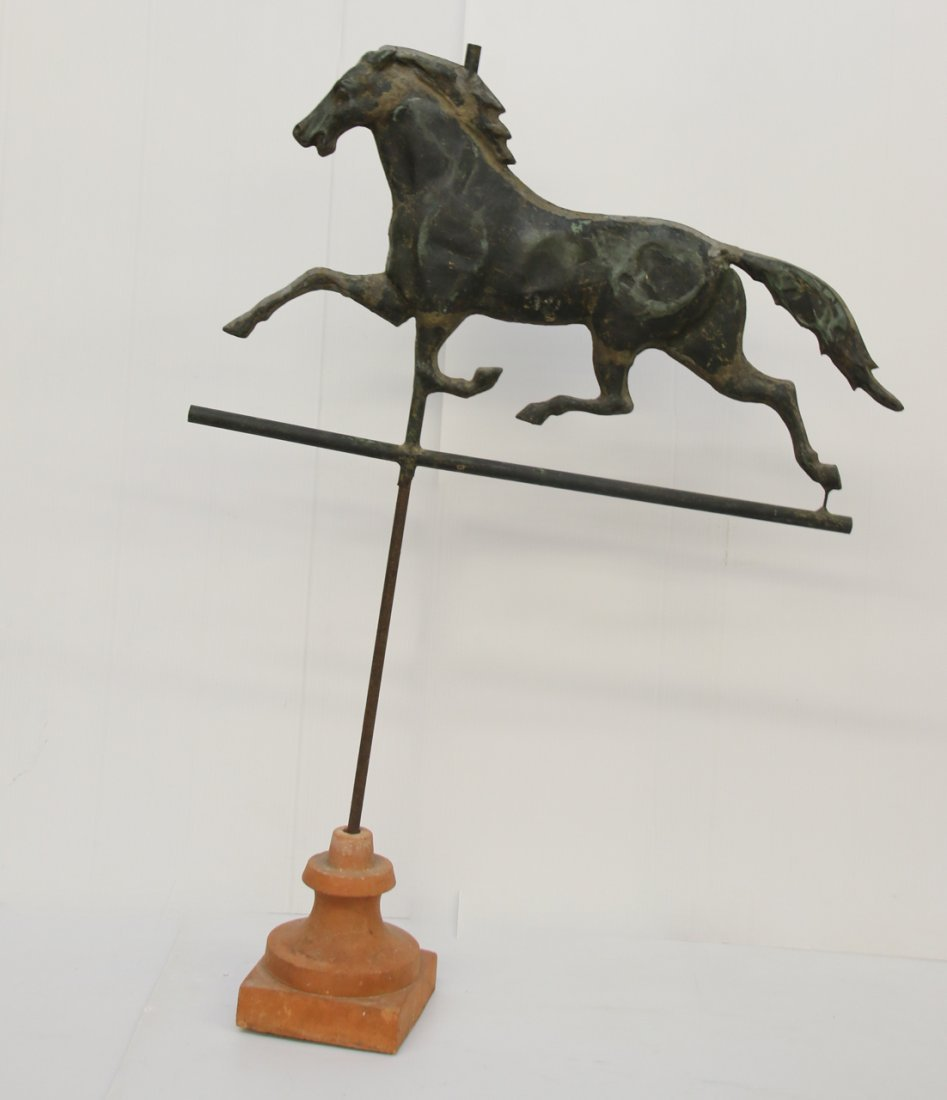 19TH CENTURY COPPER HORSE WEATHER VANE