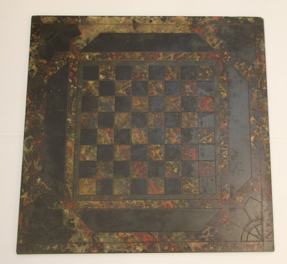 MARBLEIZED SLATE GAME BOARD