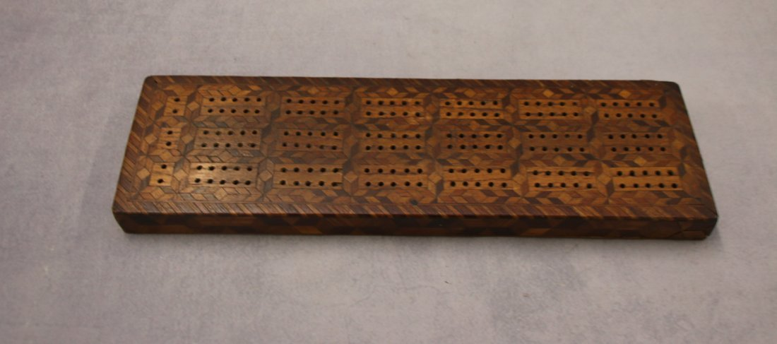 INLAID CRIBBAGE BOARD