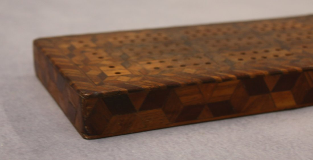 INLAID CRIBBAGE BOARD - 2
