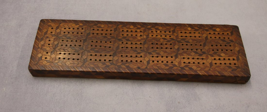 INLAID CRIBBAGE BOARD - 3