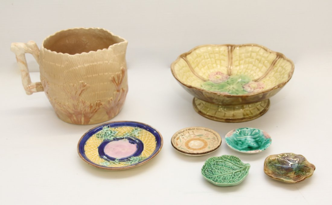 GROUP LOT OF MAJOLICA