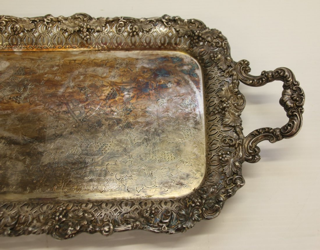 SHEFFIELD PLATE RETICULATED TRAY - 2