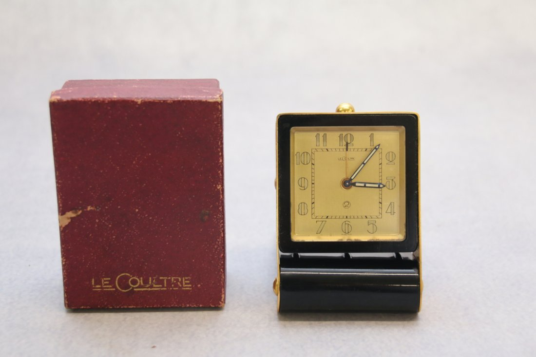 LE COULTRE SWISS TRAVEL CLOCK