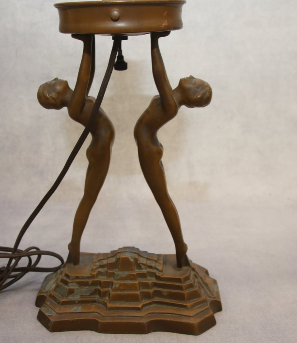ART DECO FIGURAL TABLE LIGHTS - 3