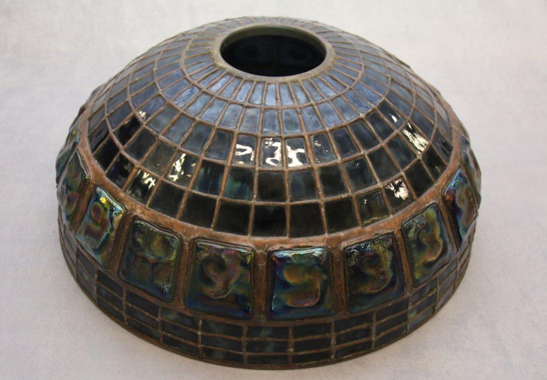 ART GLASS TURTLE BACK TILE SHADE
