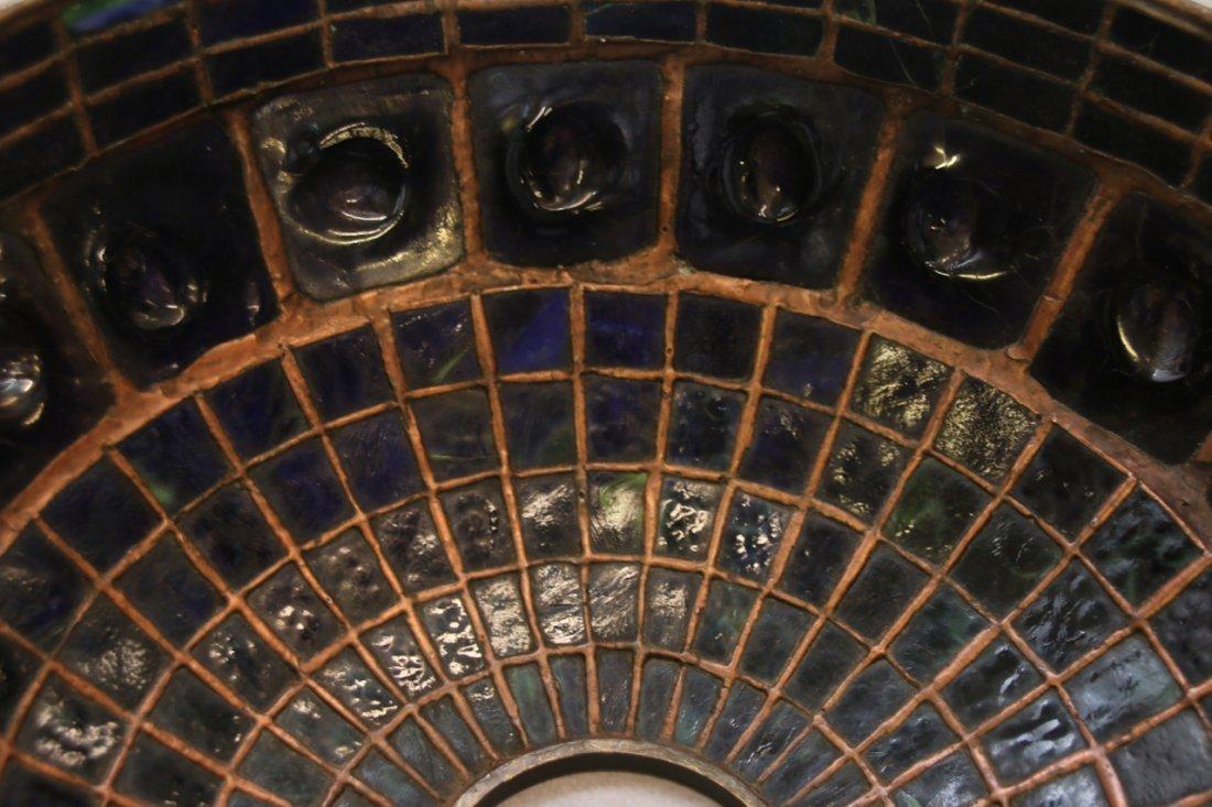 ART GLASS TURTLE BACK TILE SHADE - 6