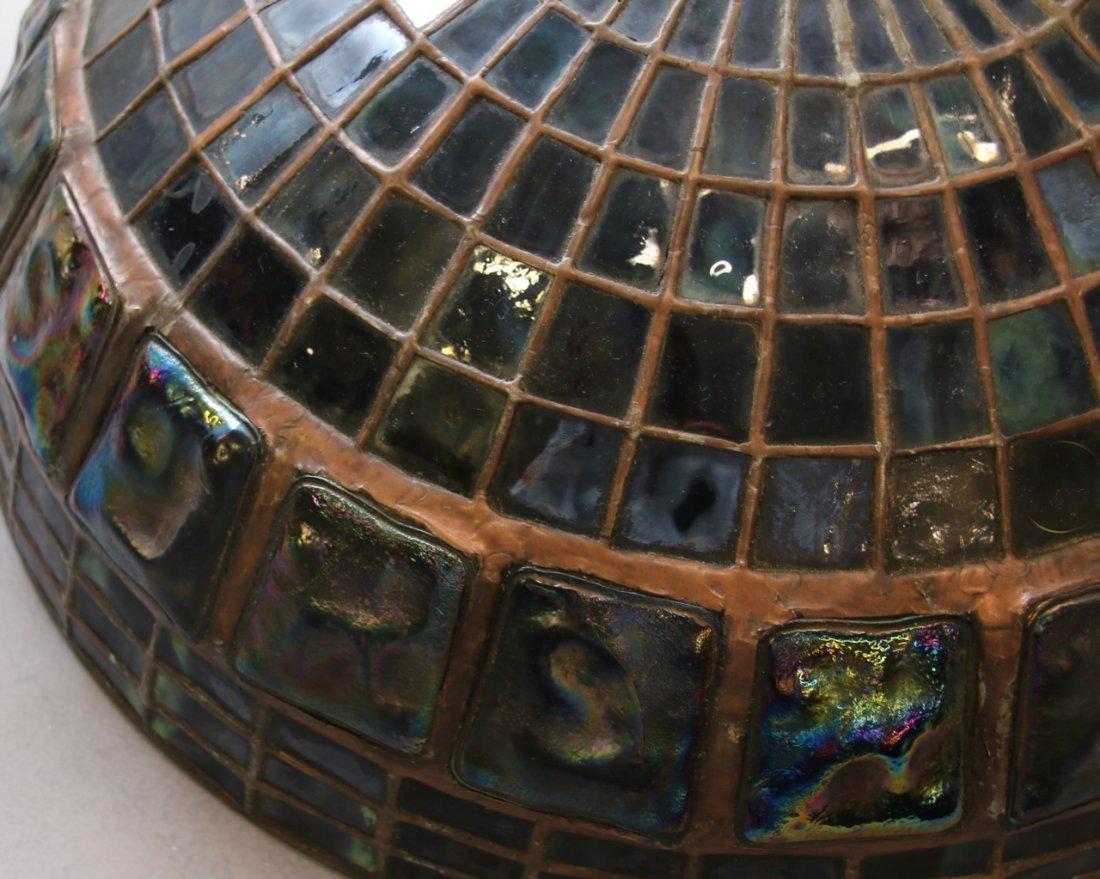 ART GLASS TURTLE BACK TILE SHADE - 7