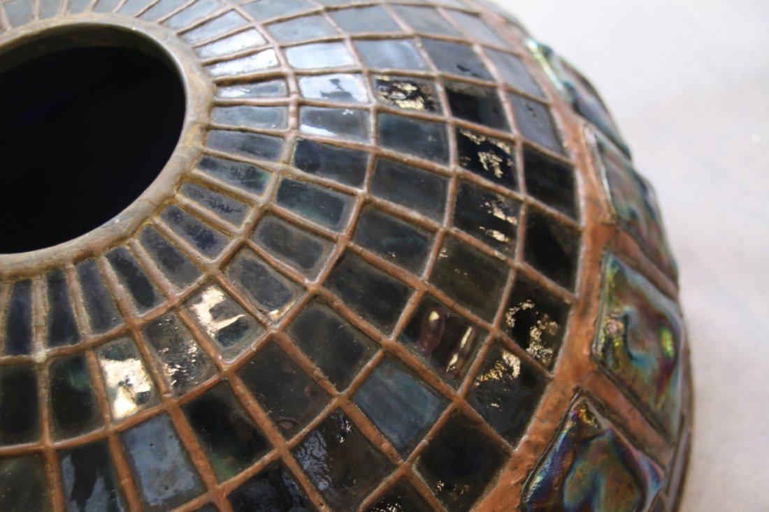 ART GLASS TURTLE BACK TILE SHADE - 8