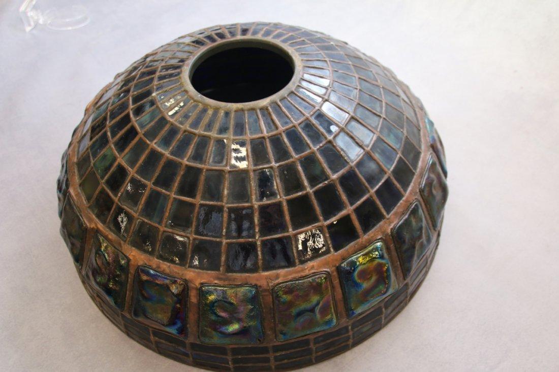 ART GLASS TURTLE BACK TILE SHADE - 9