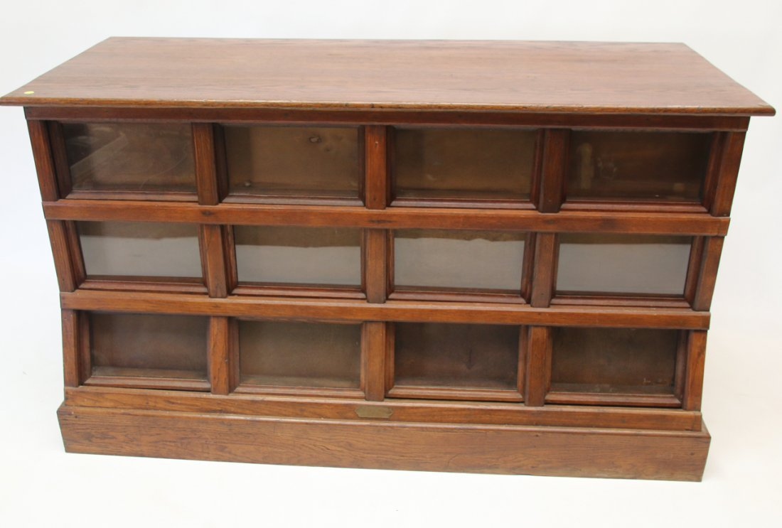 ANTIQUE OAK SEED CABINET