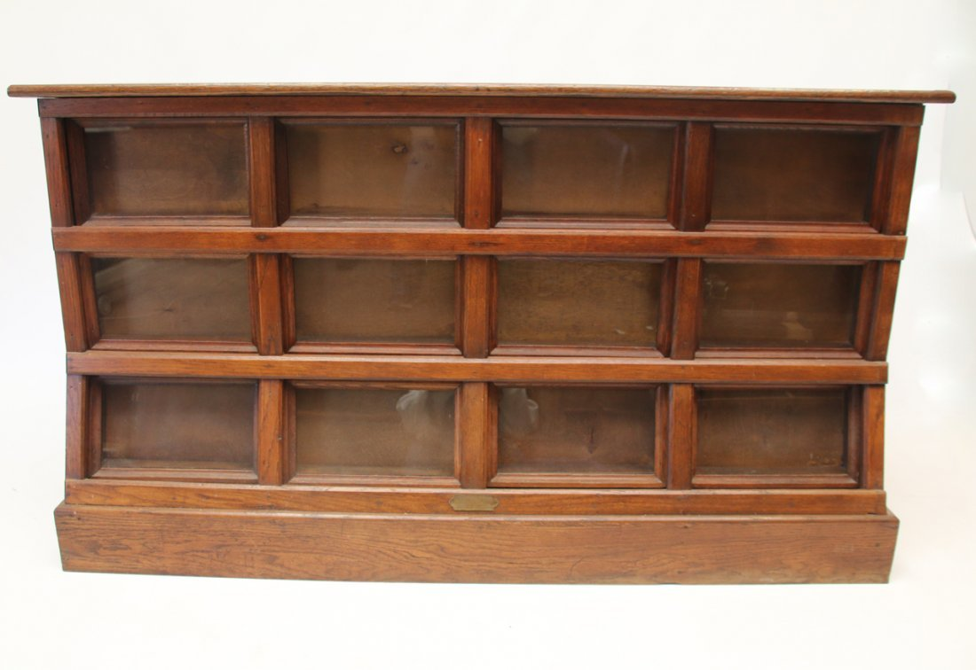 ANTIQUE OAK SEED CABINET - 2