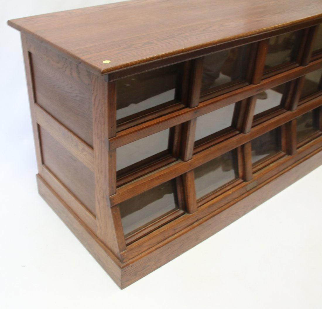 ANTIQUE OAK SEED CABINET - 3