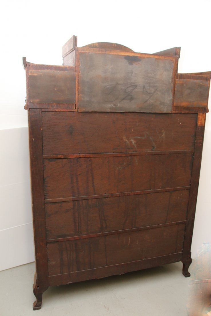 ANTIQUE OAK CHINA CLOSET - 7