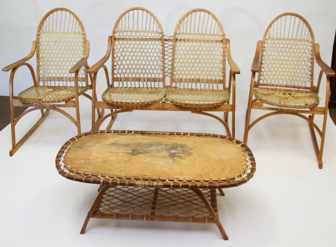 SET OF SNOWSHOE STYLE FURNITURE