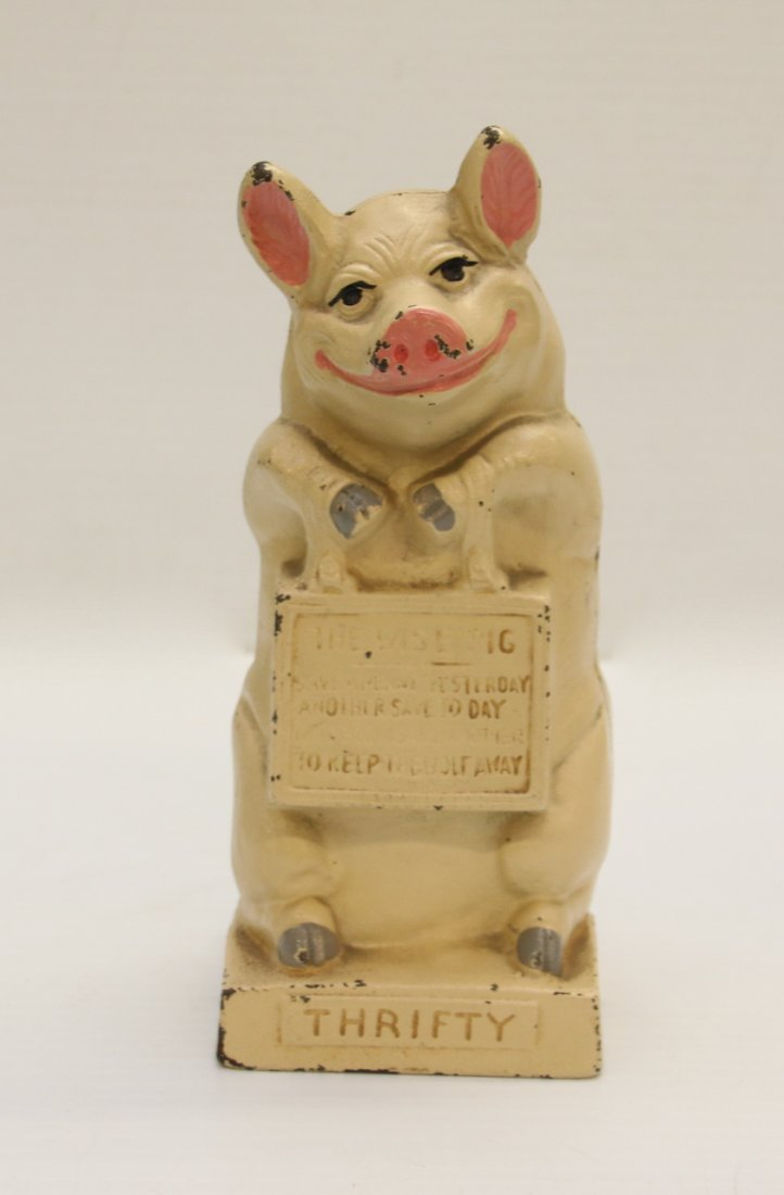CAST IRON PIG STILL BANK