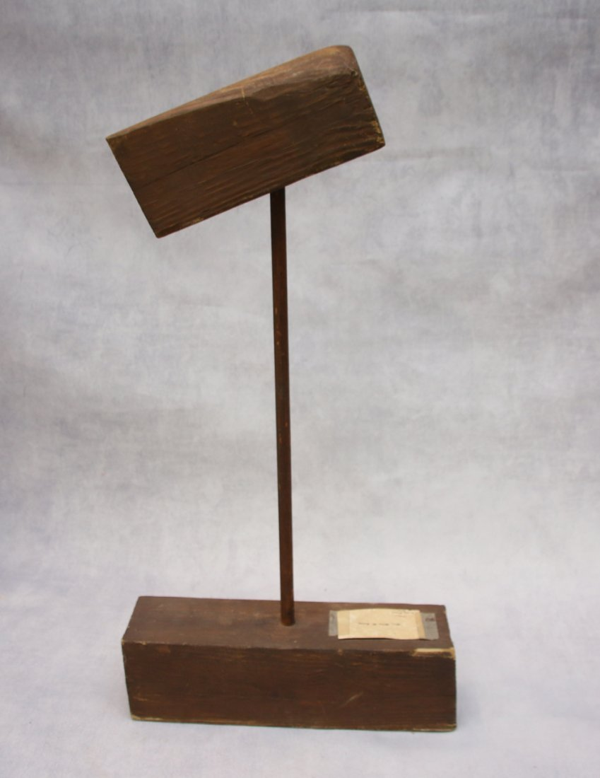 EARLY WOODEN HAT MOLD - 2