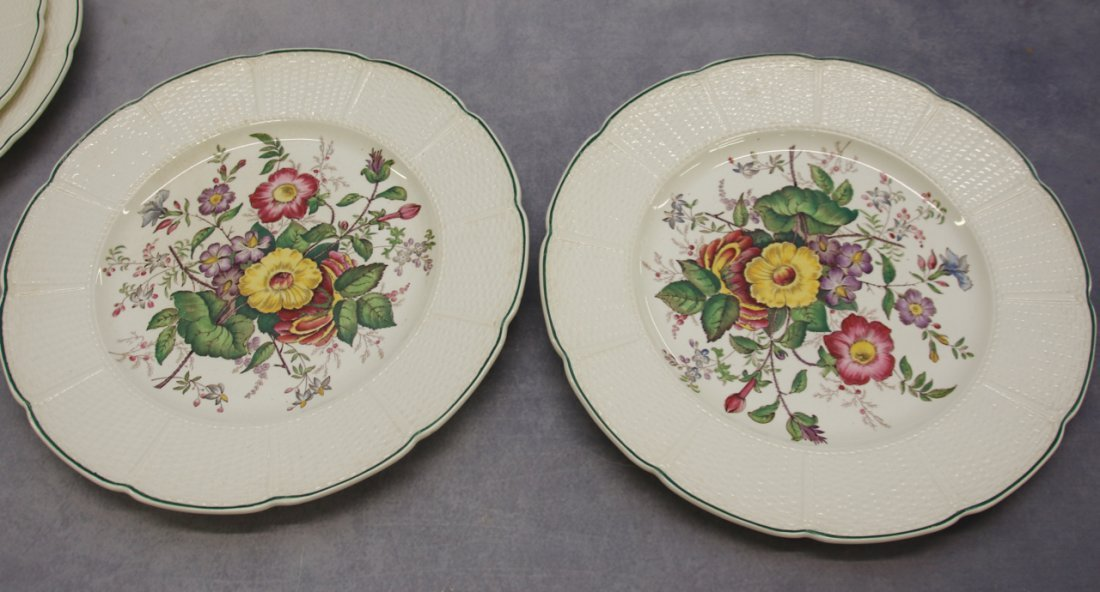 (10) WEDGWOOD FLORAL PLATES - 2