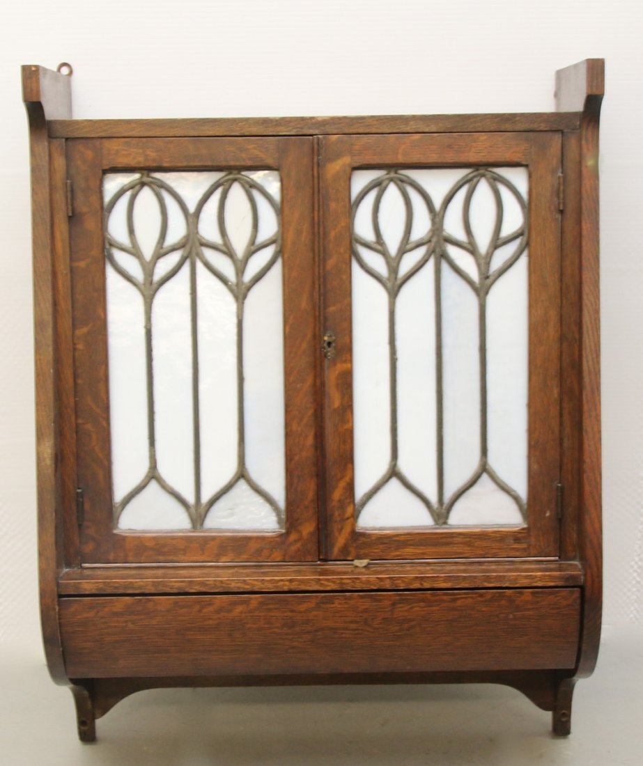 ARTS AND CRAFTS STYLE WALL CABINET