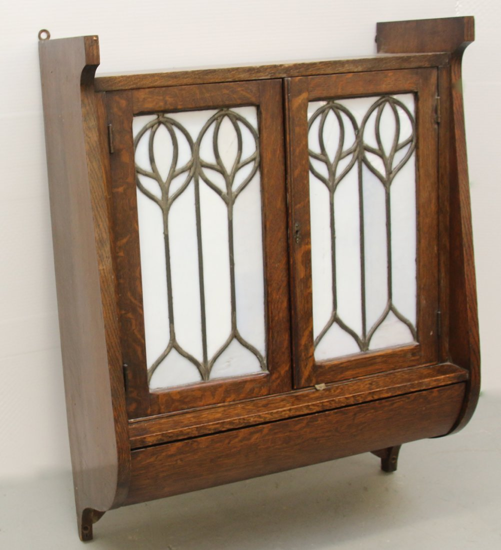 ARTS AND CRAFTS STYLE WALL CABINET - 2