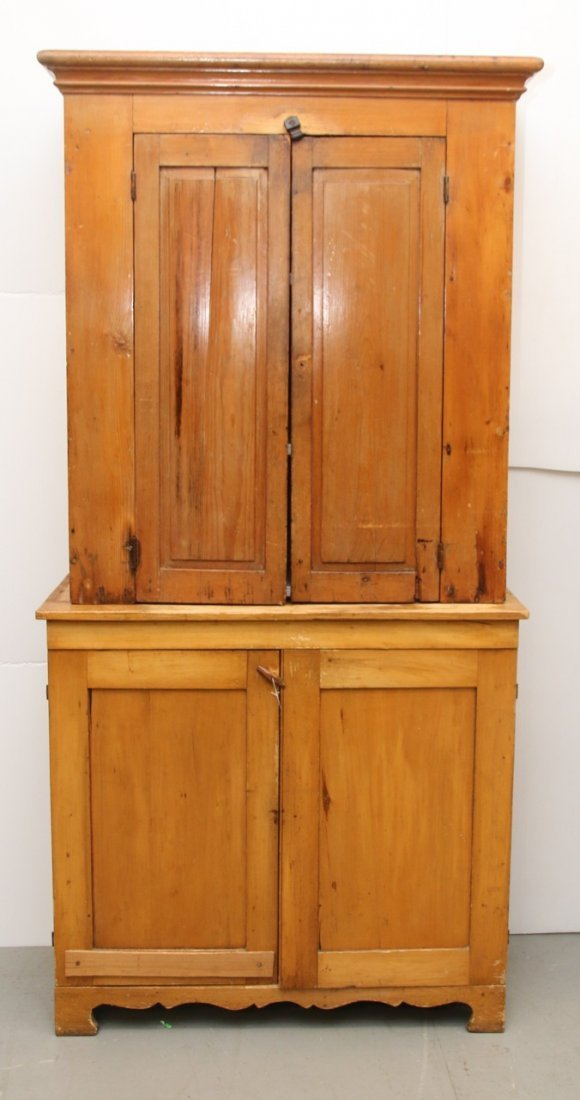 TWO-PIECE COUNTRY CUPBOARD