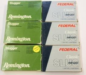 """(6) BOXES OF 12 GAUGE 3"""" MAGNUM SLUGS"""