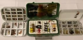 LOT OF ORVIS FLY BOXES AND FLIES