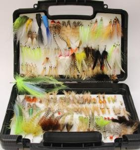 SOUTHERN ANGLER FLY BOX AND FLIES