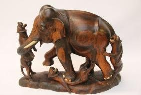 ROSEWOOD ELEPHANT CARVING