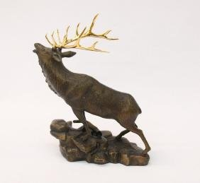 CAST BRONZE ELK
