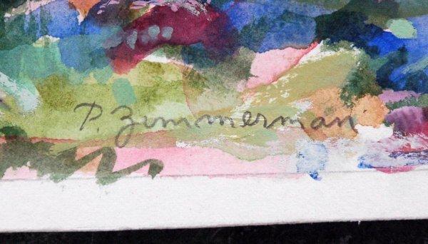 2: ZIMMERMAN (AMERICAN) Landscape Watercolor - 3